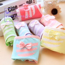 Kawaii Bow Women Underwear Candy Color 100% Cotton Female Comfortable Panties Soft Intimates Lovely Girl Briefs