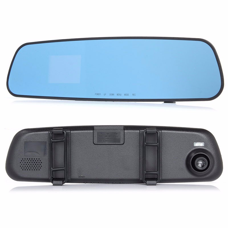 2016 good quality newest  HD dash car camera dvr parking rearview mirror video recorder with night vision front camera mini dvr (2)
