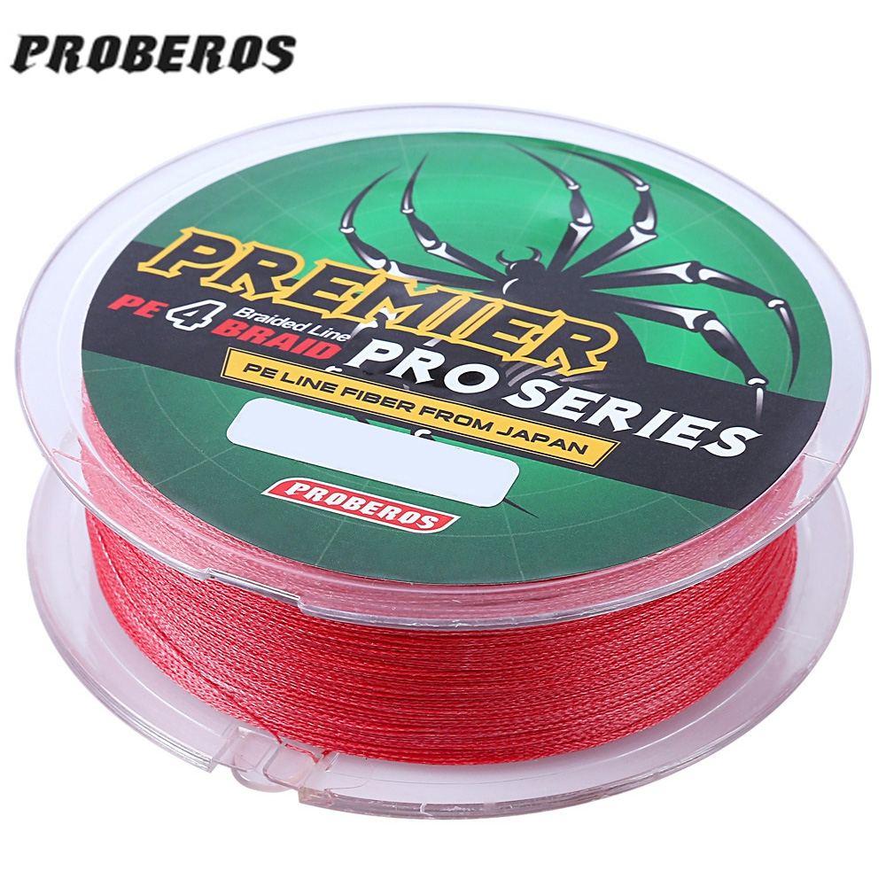 100m Durable Colorful Fishing Line Pe 4 Strands