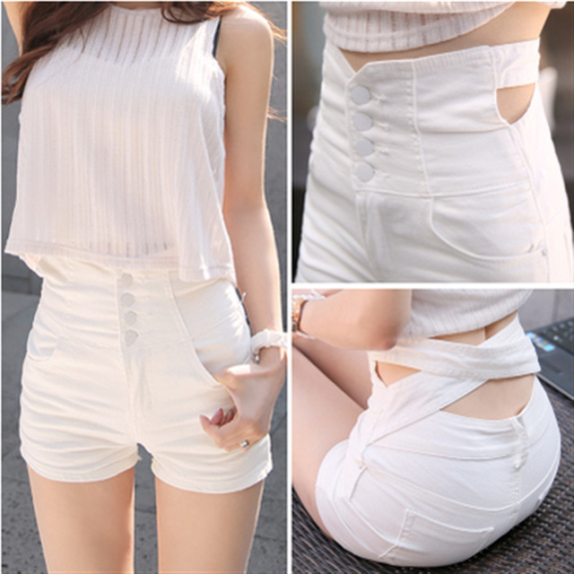 Promotions 2017 New Summer High Waist Short Jeans Casual Woman Sexy Denim Shorts Feminino Female Slim Women Sexy Jean Shorts C97