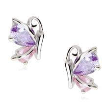 hot deal buy butterfly earrings two wear fashion temperament zircon earrings women's fine jewelry gifts wedding earrings