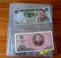 Rreceive 5 pieecs/Set Álbum Páginas 2 Bolsillos Dinero de Billetes Portamonedas Cartón Voltea Colección De Billetes De Dinero de La Moneda