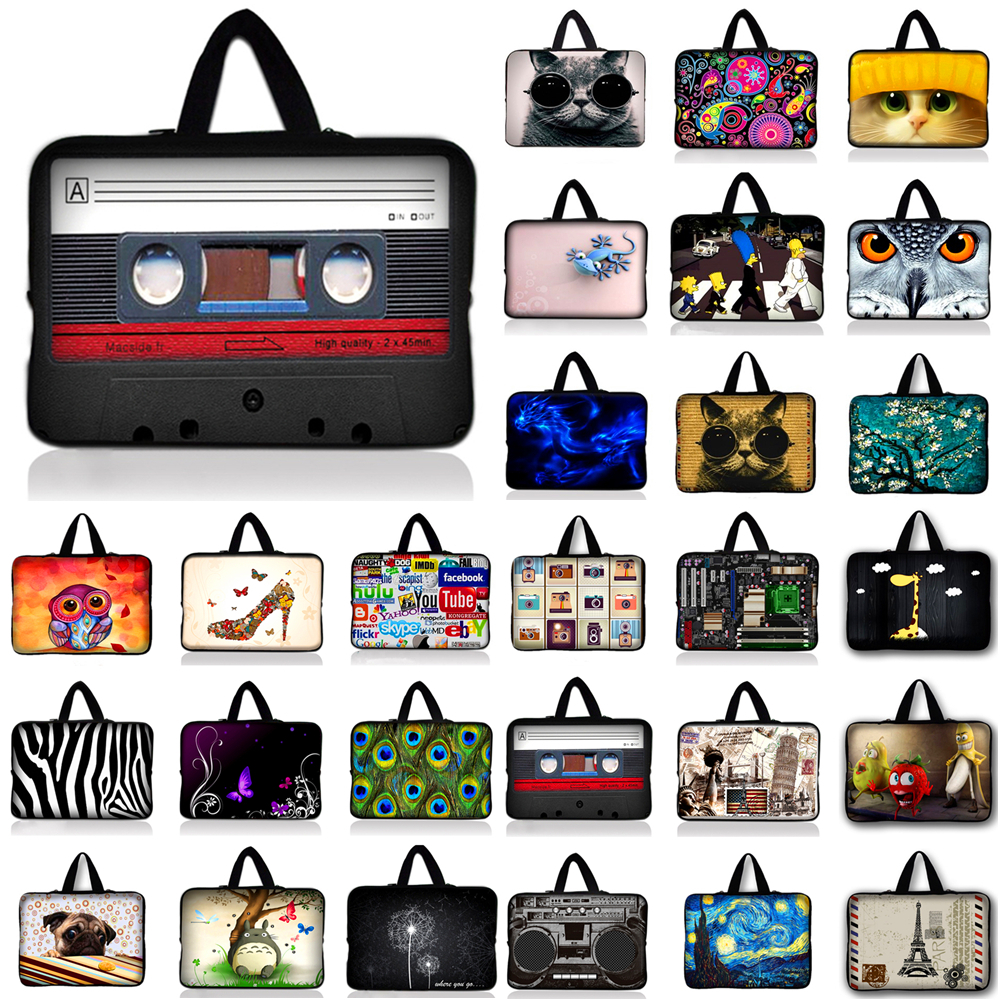 10 12 13 14 15 17 Butterfly Notebook Laptop Bag Tablet Sleeve Pouch For Dell Acer Asus 13.3 15.4 15.6 17.3 For Macbook Air / Pro
