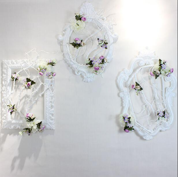 Wedding props photo frame plastic european style wedding reception area stage background decoration wall decoration window flora in Party DIY Decorations from Home Garden