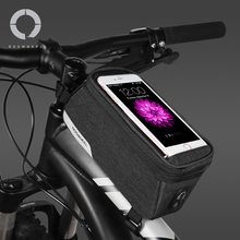 цена на Roswheel Essentials 121460 Bike Top Tube Front Frame Bicycle Cell Mobile Phone Bag Case Holder Pannier Pouch for 5.7 Phones