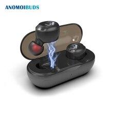 Anomoibuds Capsule Беспроводной Bluetooth наушники СПЦ наушники Авто спаривания Шум отмена V5.0 стерео вызова спортивные наушники