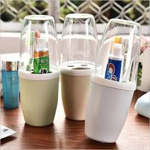 Travel Couple Gargle Toothbrush Holder Toothbrush Cup Set Plastic Dust-proof Toothbrush Cup Cylinder Wash Gargle Cup WL099