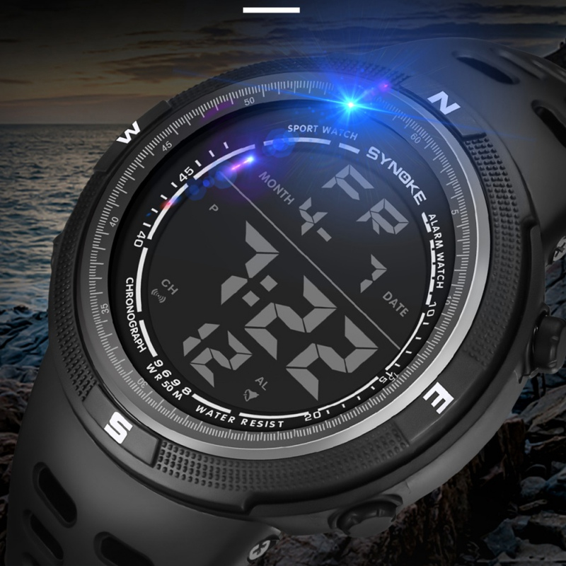 Outdoor Men Digital Watch Waterproof Sports Watch Round Simple Watch With Alarm Luminous Colors 2018 Watch muhsein sports watch tidal current male brief teenage waterproof luminous outdoor submersible electronic watch