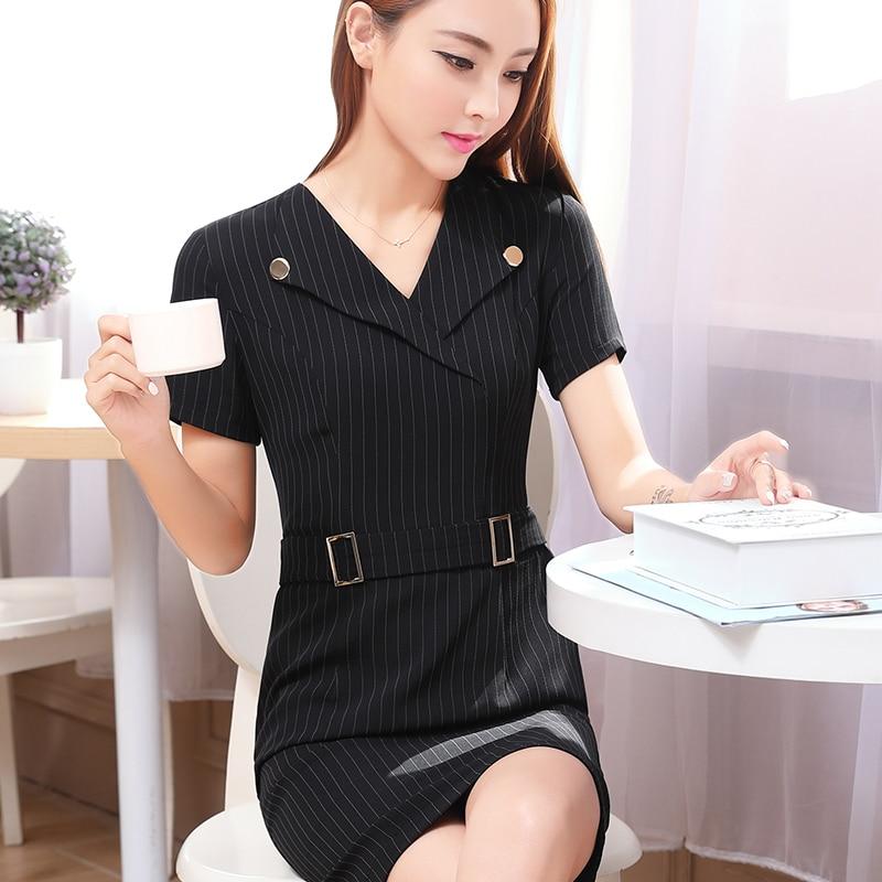 6066754cd Summer office dress Women elegant Business work wear Dress plus size ...