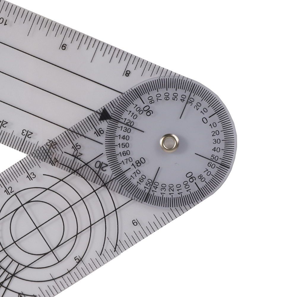 Userful Multi-Ruler Goniometer Angle Medical Spinal Ruler Professional 360 Degree Measuring Tool Spinals Goniometer Protractors