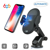 696 Automatic Infrared Senser Mobile Phone Qi Fast Car Wireless Charger for Samsung
