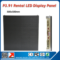 TEEHO Indoor led video panel 500x500mm P3.91mm 0.25sqaure meter display wall rental cool golden led display panel