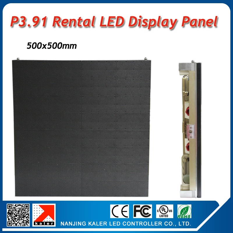 TEEHO Indoor Led Video Panel 500x500mm P3.91mm 0.25sqaure Meter Display Wall Rental Cool Golden Led Display Panel