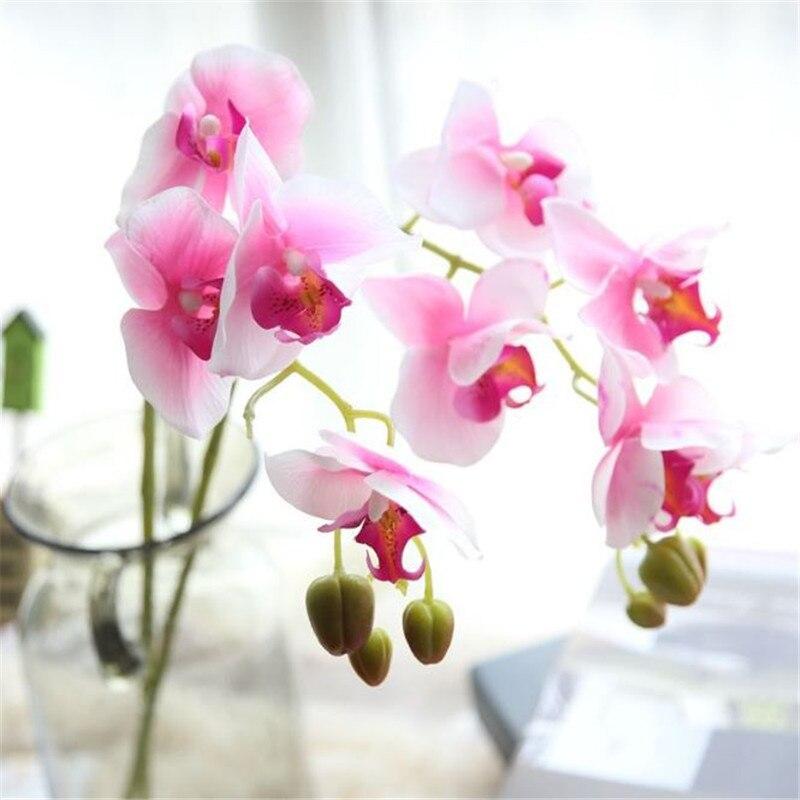 Neue Ankunft 3d 90 Cm Künstliche Blume Phalaenopsis Latex Beschichtung Seide Blume Real Touch Orchidee Orchidee Multicolor Hochzeit Künstliche Dekorationen