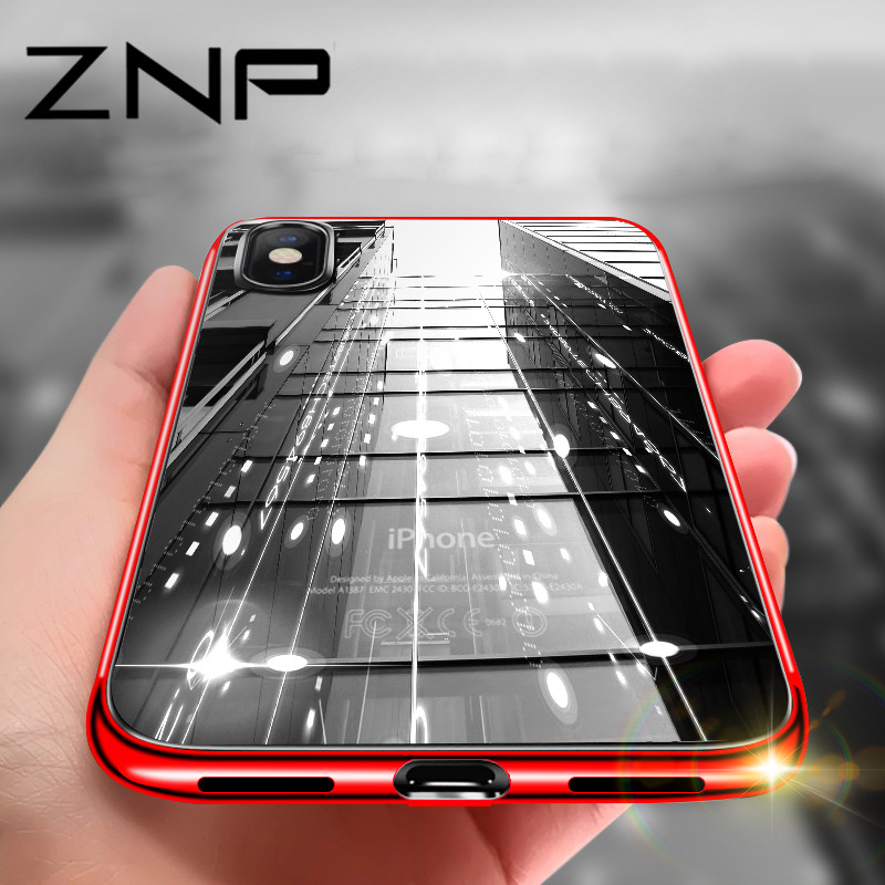 Galleria fotografica ZNP Ultra thin Silicone Plating Soft TPU Transparent Case For iphone X 8 7 6 6s Plus 10 Case Phone Cover For iphone 6 7 8 X Case