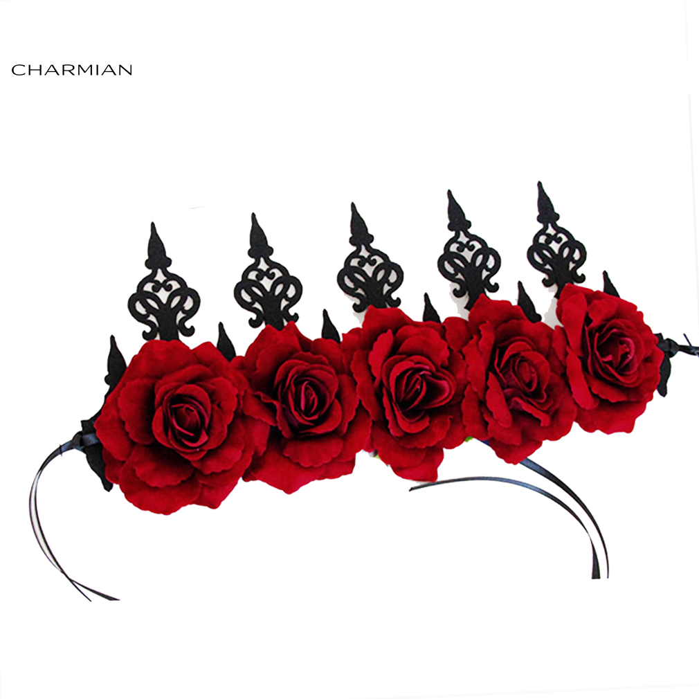 Charmian Women's Rose Headband Wedding Headwear