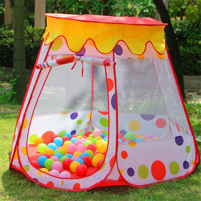 Children Kids Play Tents Outdoor Garden Folding Portable Toy Tent Pop Up Multicolor Independent House Ball & Children Kids Play Tents Outdoor Garden Folding Portable Toy Tent ...