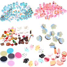 10pcs Colorful Christmas Dolls Miniature Pretend Toy Mini Play Food Cake Biscuit Donuts For Barbie Dolls DIY Jewelry Accessories(China)