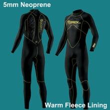 5 мм Гидрокостюмы Премиум неопрен мокрого костюма всего тела с теплой флисовой подкладкой дайвинг, Сноркелинг, серфинг мужчины/женщины(5 мм 3 мм 1,5 мм