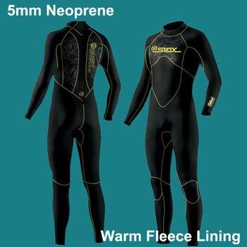 Combinaisons de 5mm Premium néoprène combinaison complète du corps avec doublure en polaire chaude plongée, plongée en apnée, surf hommes/femmes (5mm 3mm 1.5mm)