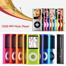 High Quality 32GB 1.8 inch LCD Screen MP3 MP4 Music Player Support E-Book Reading FM Radio Games Metal Housing Video Players
