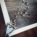 2016 New Arrival Women Pendant Necklaces Triangular Leaves All-match Temperament Female Long Necklace Pendant Sweater Chain