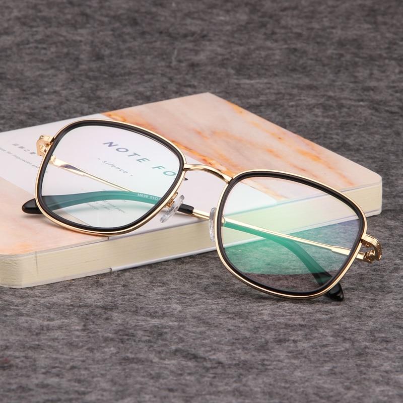Gold holz gläser rahmen klare linse gläser brillen für frauen herren ...