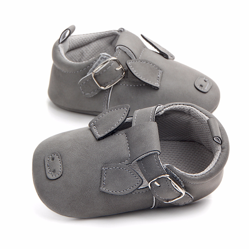 2018 Baby Girls Boys Shoes PU Suede Leather Soft Soled Non-slip Crib Shoes Animal Print Newborn Baby Shoes