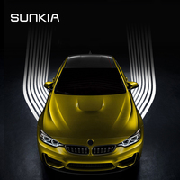 SUNKIA LED Angel Wings Light Welcome Lamp Projector Ghost Shadow Puddle For All Cars And Motorcycles