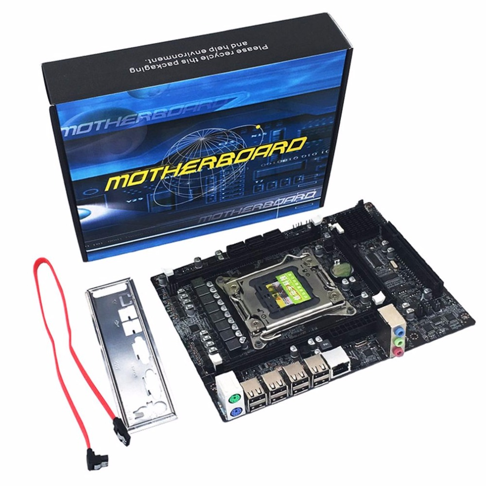 Настольный компьютер Плата X79 игровой материнской платы LGA 2011 ATX 4 Каналы все массивная доска Поддержка e5-2670 2650