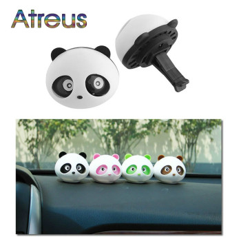 2Pcs Car Air Freshener Car Outlet Perfume Cute Panda Eyes For Renault Megane 2 Captur Mitsubishi ASX Suzuki Vitara Jeep Peugeot image