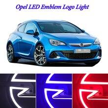 Стайлинга автомобилей 5D водить автомобиль значок-эмблема логотип свет для Opel привело логотип значок-эмблема light 13,3 см X 10,1 см белый красный синий
