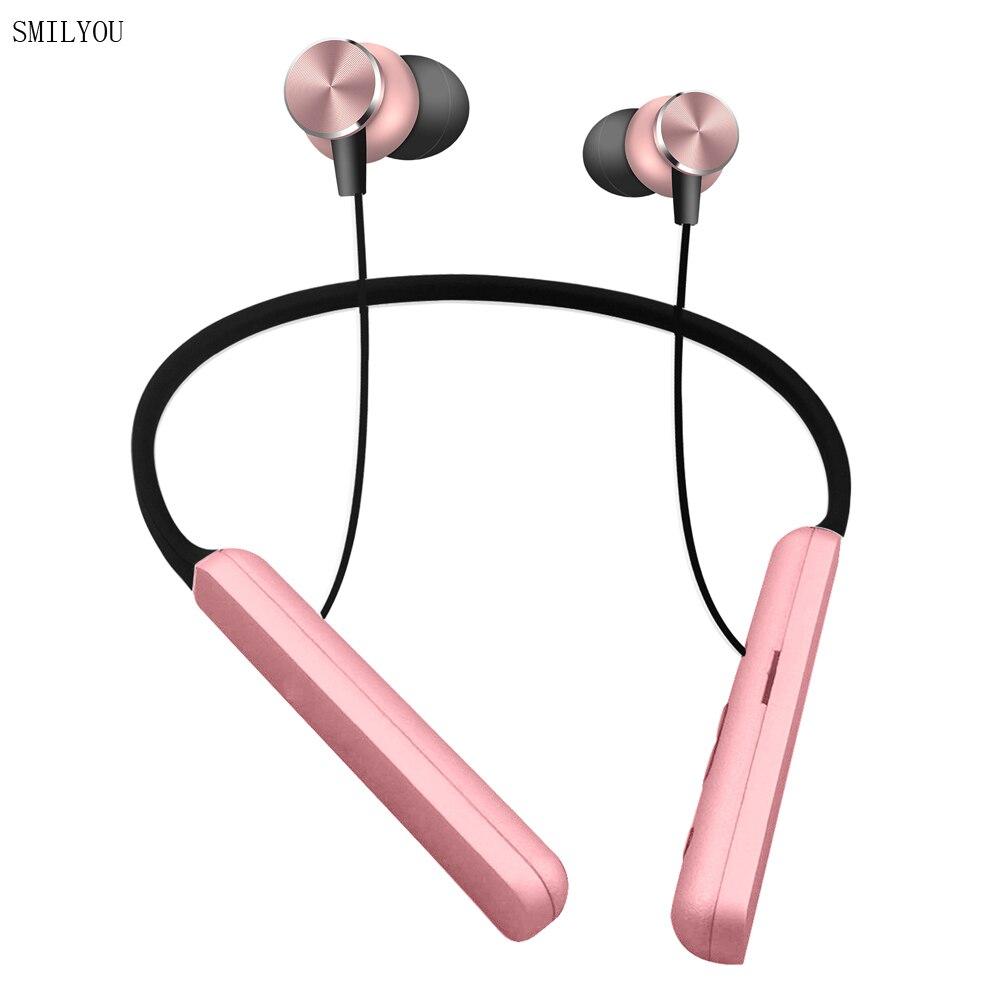 SMILYOU T18 luxury bluetooth headphone wireless bluetooth earphone sport headset bass with mic for xiaomi samsung iphone