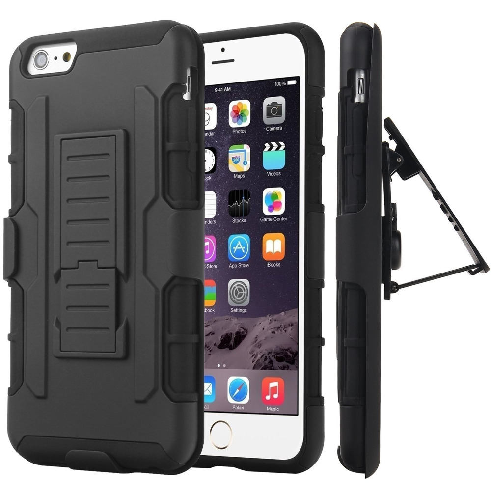 best loved d74a8 678c5 6 6S Case Belt Clip Holster Stand Armor Case Cover For iPhone 6 Plus ...