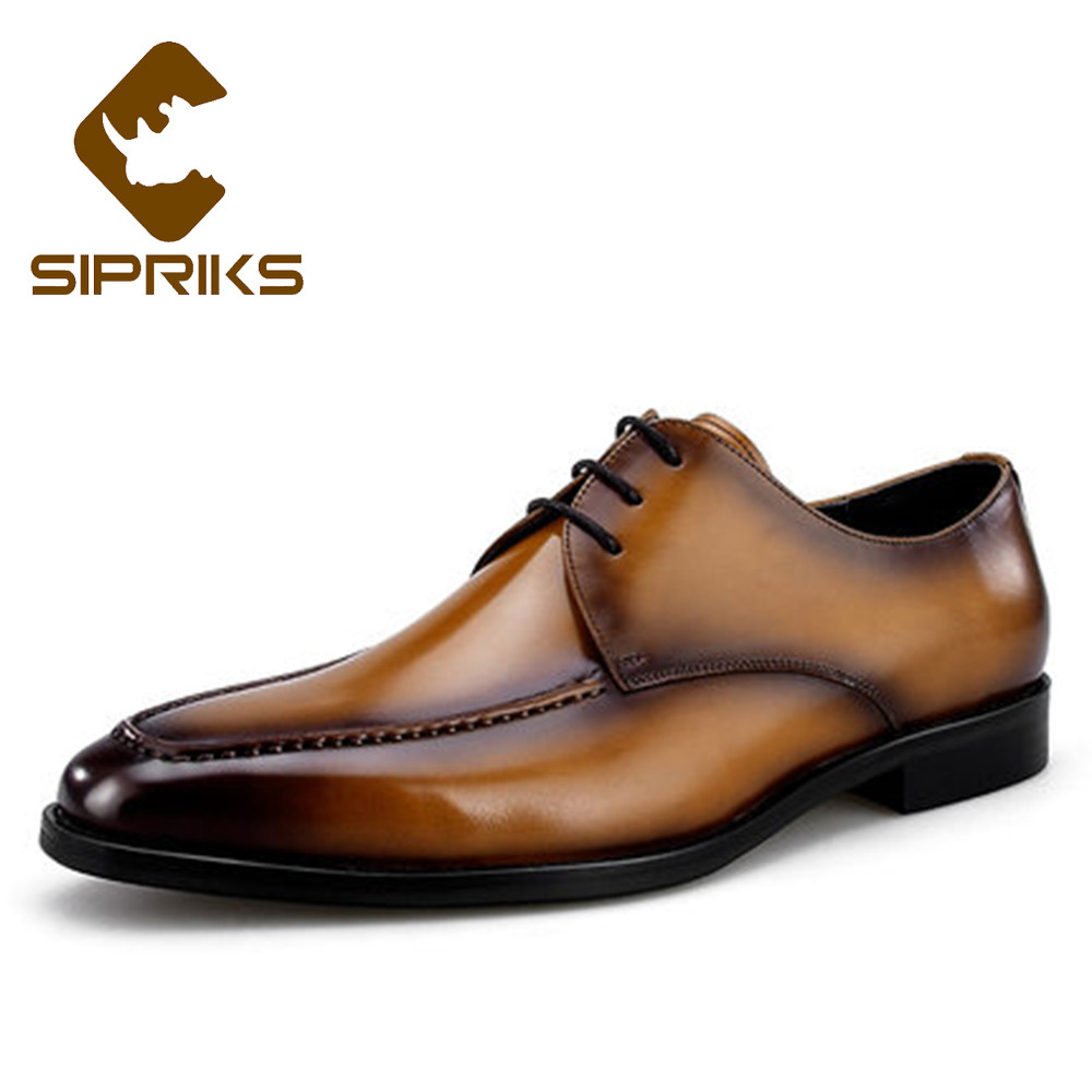 Sipriks Mens Patina Leather Brown Formal Shoes Boss Men Designer Dress Tuxedo Shoes Business Work Office Official Shoes Topsider sipriks luxury mens braided leather shoes elegant mens woven derby shoes genuine leather dress shoes boss official business work