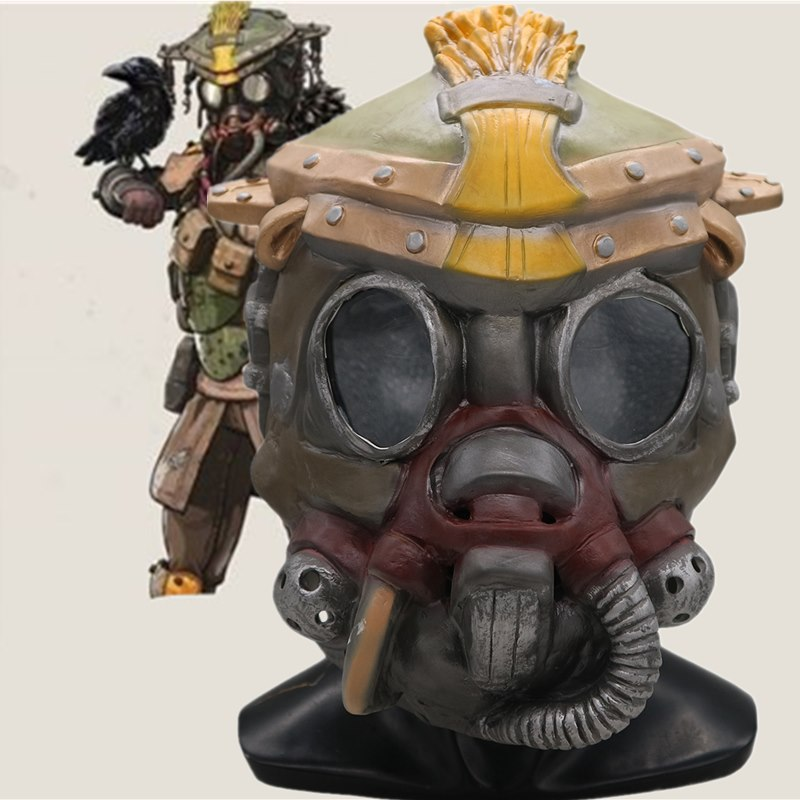 Game Apex legends BLOODHOUND Latex Full Head Mask Cosplay Halloween Latex Masks Party Props