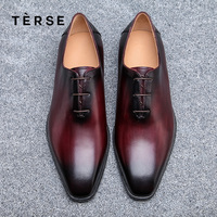 TERSE NEW Dressing Shoes Luxury Men genuine Leather Shoes Fashion Flats oxfords Business Casual Shoes Lace Up shoes 15770 2