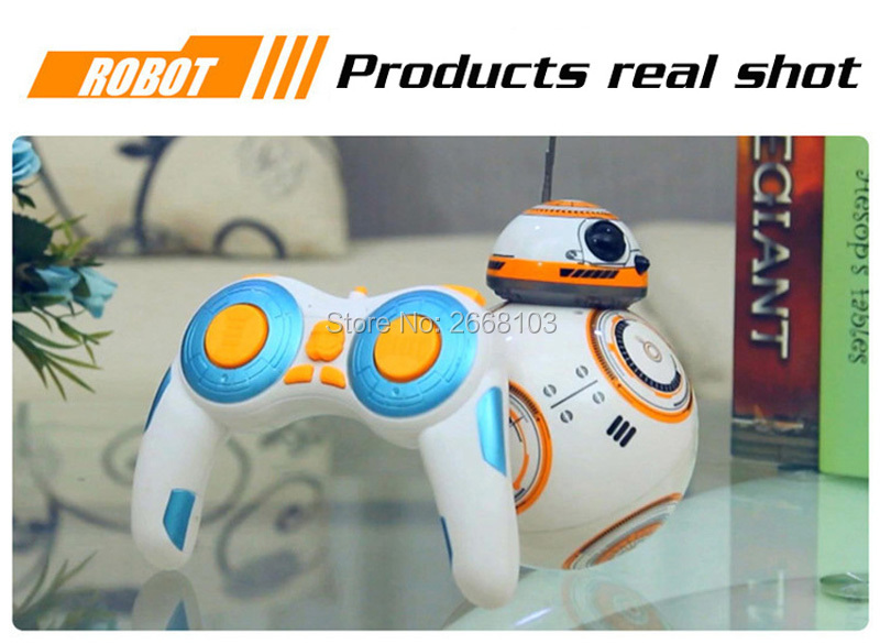 Upgrade Model Ball Star Wars RC BB-8 Droid Robot BB8 Intelligent Robot 2.4G Remote Control Toys For Girl Gifts With Sound Action 20
