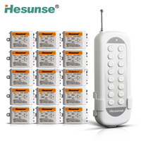 Y F211B1N15 220V 15 Ways Wireless Remote Control Switch For Light 15 Receivers 110V Can Be