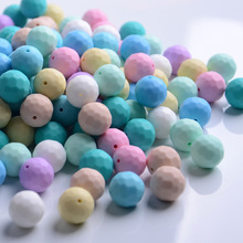 hot deal buy 10pc baby nursing teething crochet beads chewable beads diy jewelry nursing accessories toy baby teether 16mm teething necklace