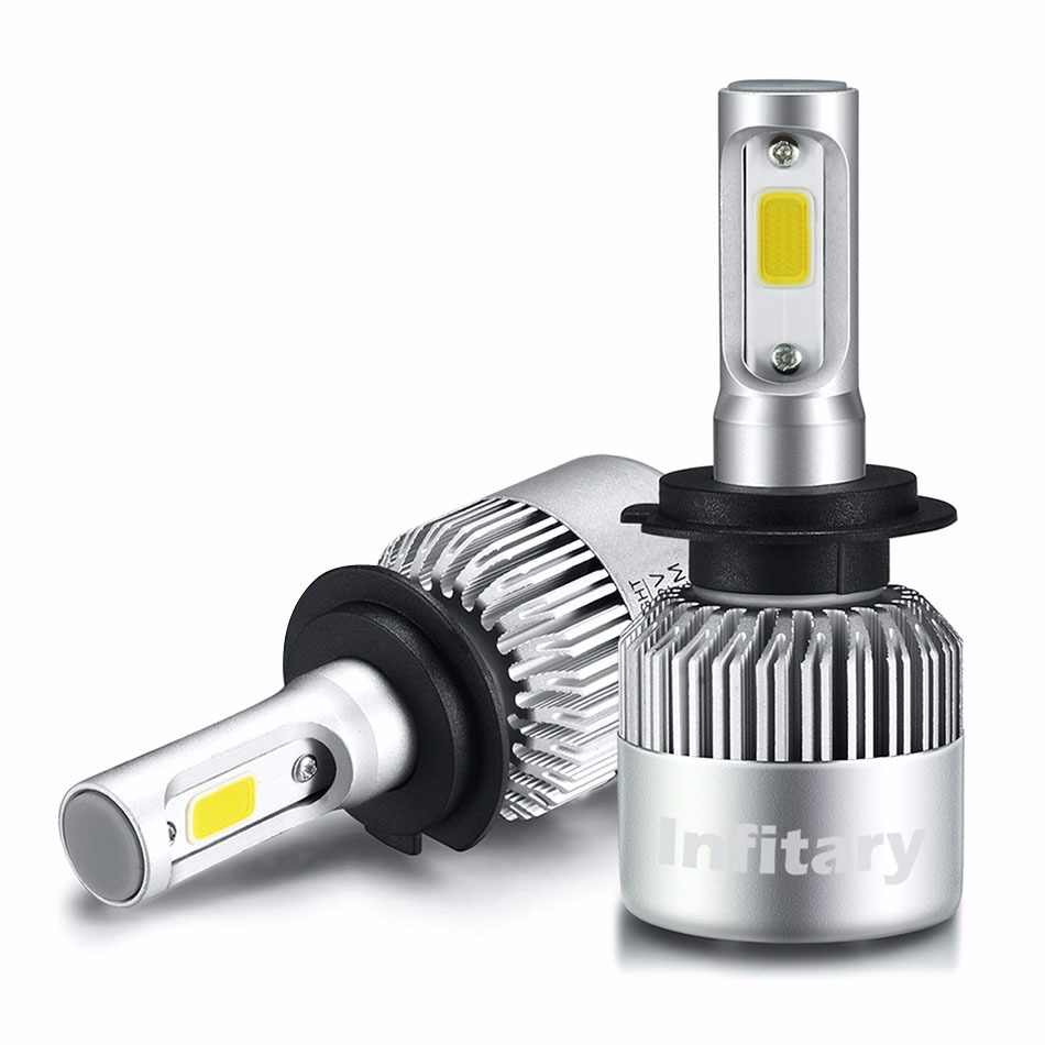 2 Pcs 12V 24V Car Headlight H4 LED H7 H1 H3 H11 H13 H27 HB3 HB4 9004 9005 9006 9007 72W 8000LM Auto Headlamp 6500K Light Bulb