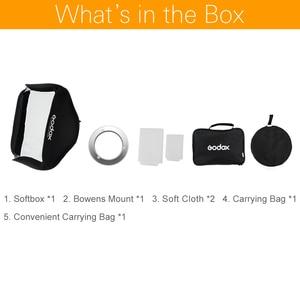 "Image 3 - Godox 80x80 cm 31,5 ""x 31,5"" Folding Tragbare Bowens Berg Softbox Studio Strobe Flash Foto Reflektierende softbox Diffusor"