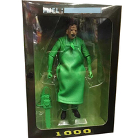 NECA Green Fuel 40TH Leatherface The Texas Chainsaw MASSACRE PVC Action Figure Collectible Model Toy 18cm