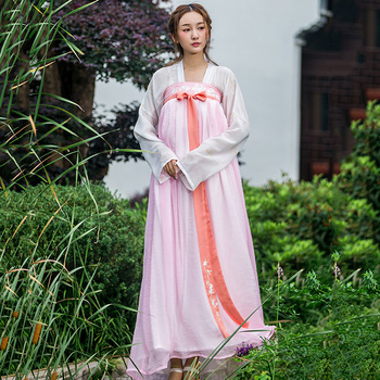 Women Hanfu Pink Classical Dance Costume Chinese Fairy Dress Oriental Embroidery Festival Outfit Folk Performance Clothes DF1060