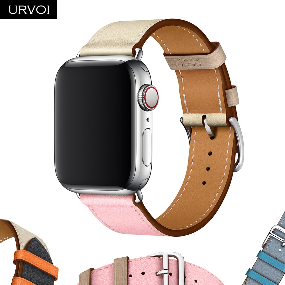 URVOI Leather band for apple watch series 4 3 2 1 single tour for iwatch straps wrist band classic design 2019 Spring 40/44mmURVOI Leather band for apple watch series 4 3 2 1 single tour for iwatch straps wrist band classic design 2019 Spring 40/44mm