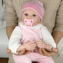 """22 """"reborn bebés niñas juguetes/silicona reborn-baby-muñecas/reborn boneca realista regalo de cumpleaños para los niños"""