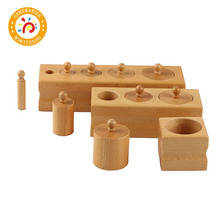 цены Montessori Toy Wooden Cylinder Blocks Toys Sensory for 0-3 Years Kids Preschool Games Educational