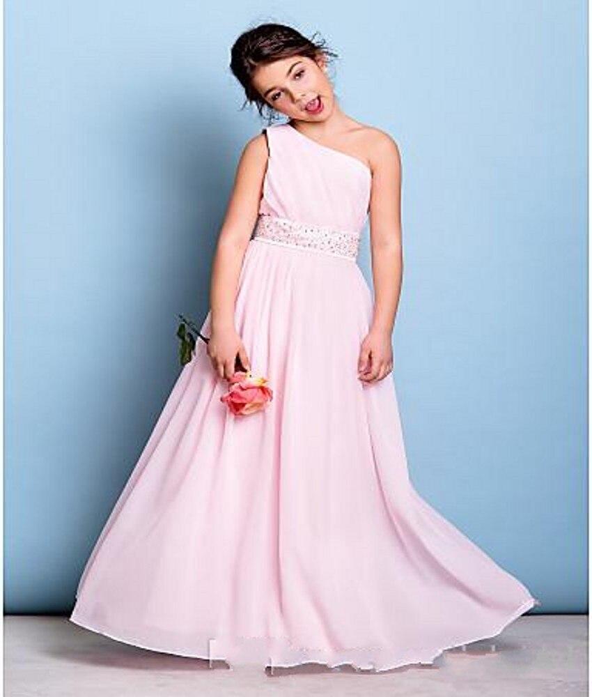 Aliexpress.com : Buy Rose Quartz One Shoulder Floor Length Flowers ...