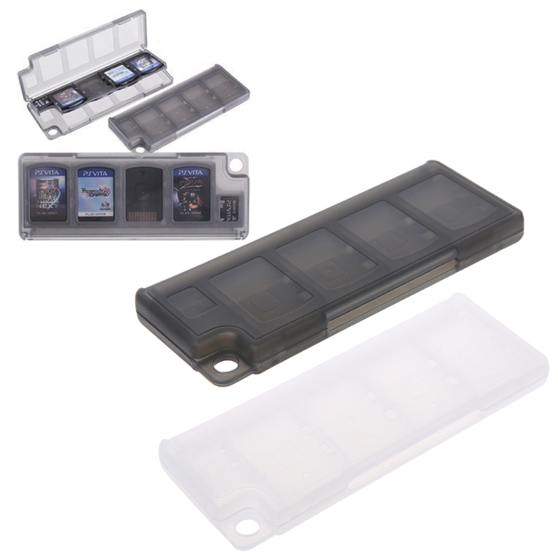 Portable Memory Card Holder 10 In 1 Game Memory Card Storage Case Box Holder For Game Cards Black