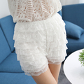 2017 new sexy lace women meryl jacquard invisible safety short pants panties girls mid waist boyshorts underwear plus